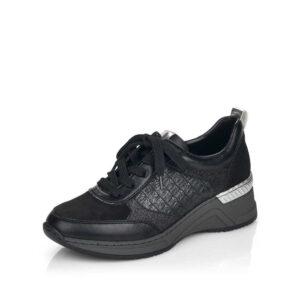 Czarny sneakers damski Rieker